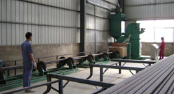 426钢管抛丸生产线