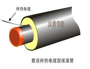 敷设伴热电缆型保温管